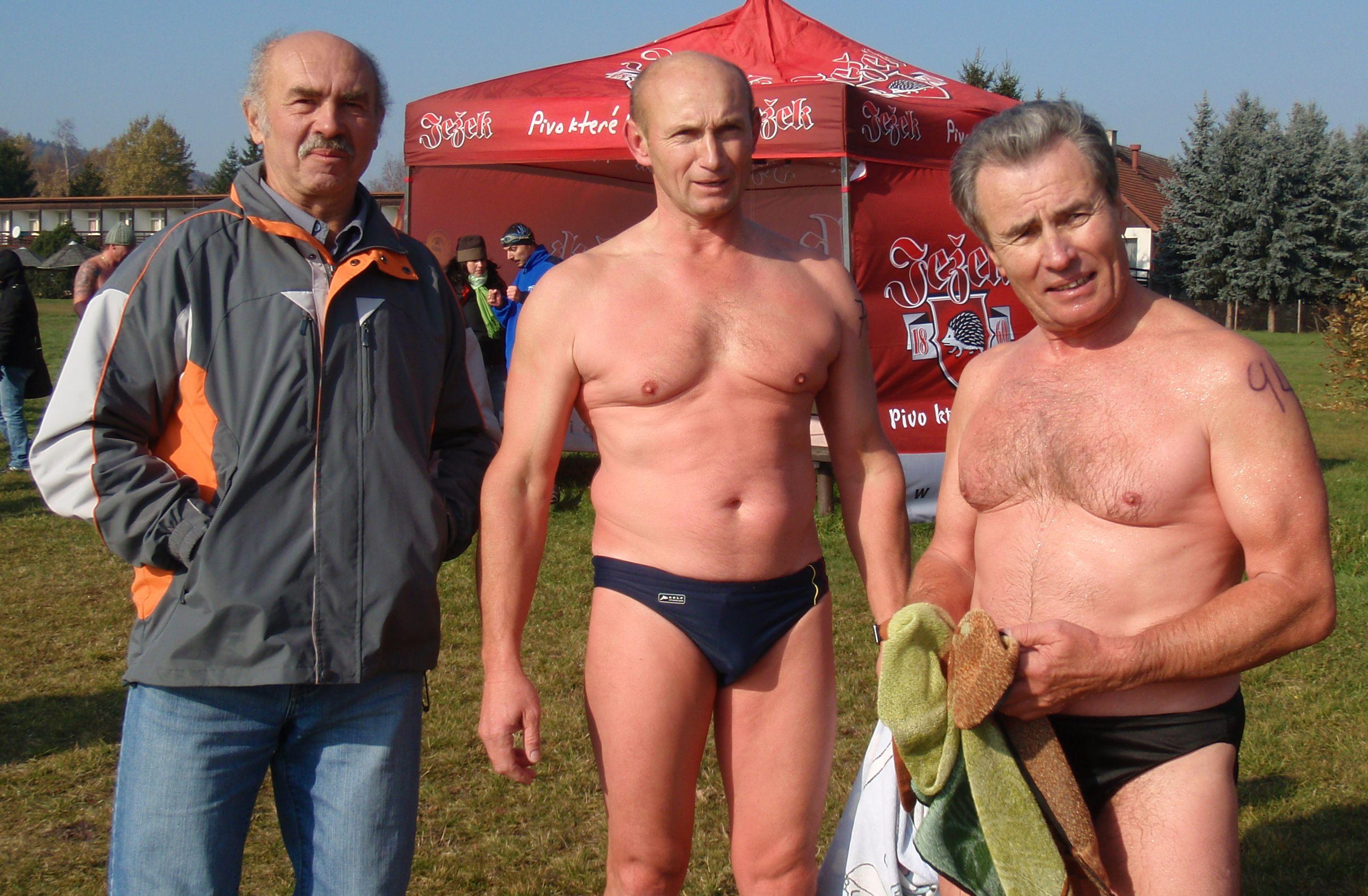 Zleva Vladimír Janoušek, Ing. Jan Bartík, Zdeněk Mikoláš